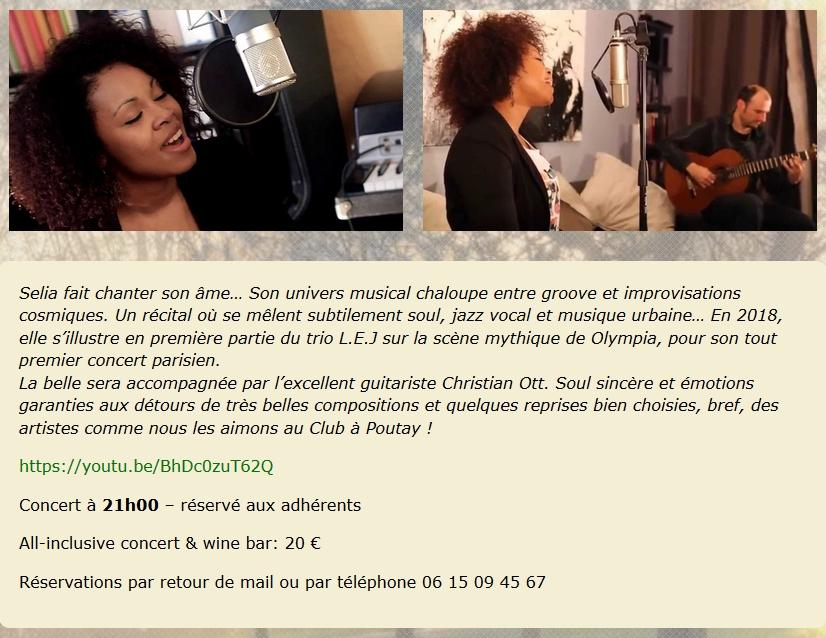 Concert de  S E L I A @ La Cavine à Poutay | Plaine | Grand Est | France