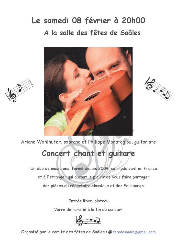 Concert chant et guitare @ Salle des fêtes Saâles | Saales | Grand Est | France
