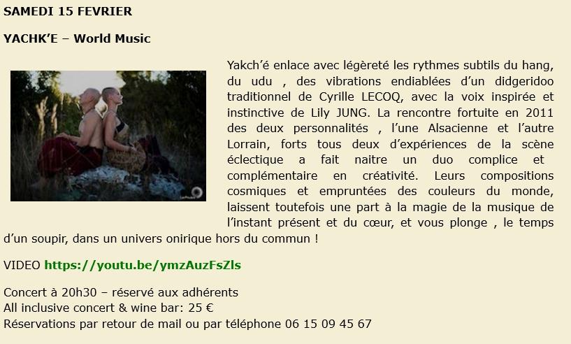 Concert au Club à Poutay @ La Cavine à Poutay | Plaine | Grand Est | France