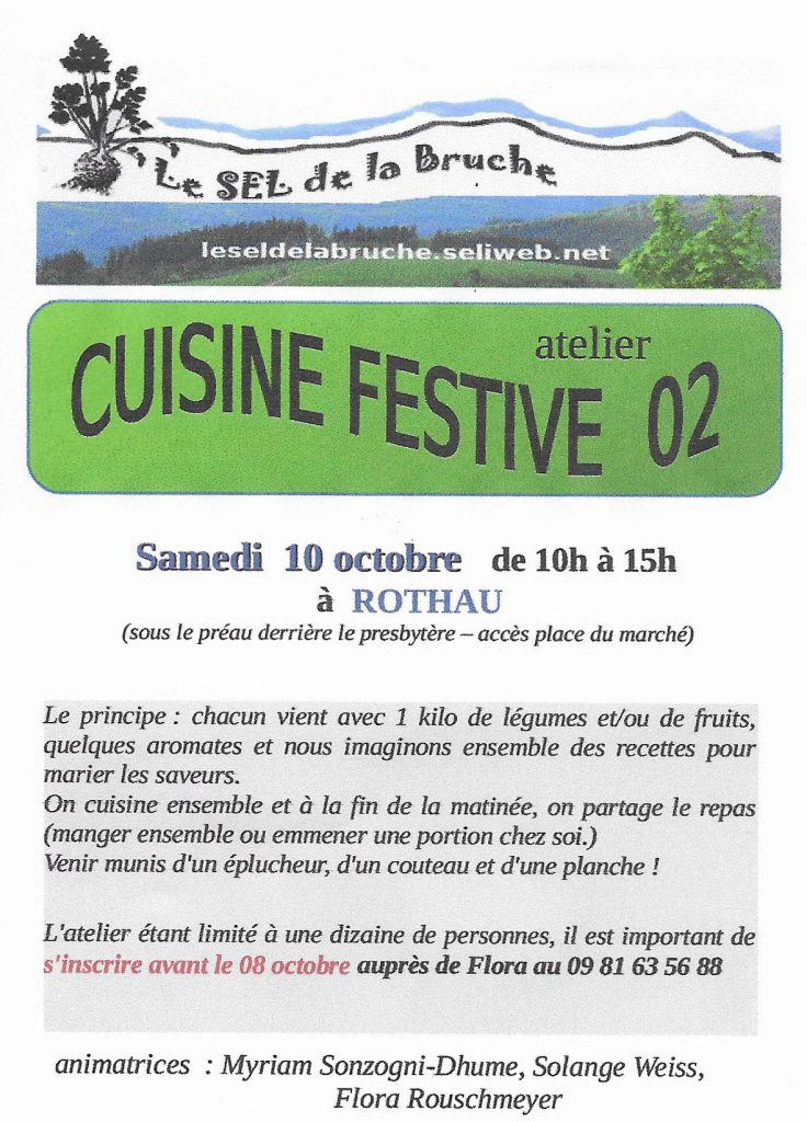 Cuisine festive @ Presbytère | Rothau | Grand Est | France