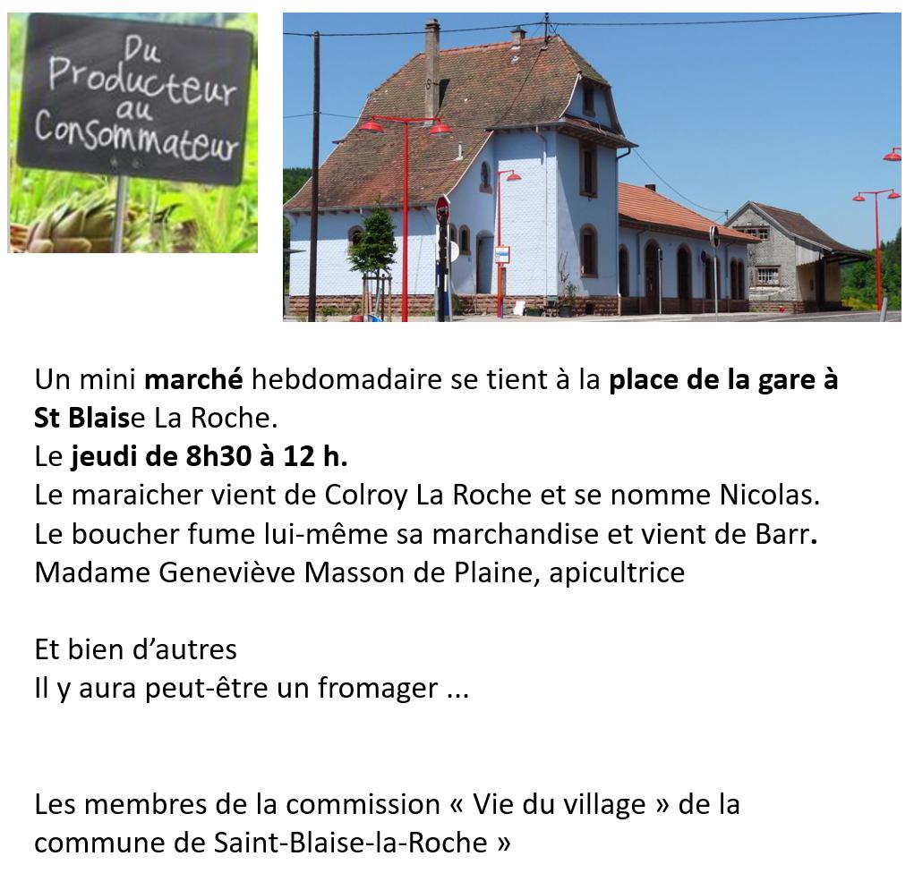 Mini-marché Saint Blaise @ Gare Saint Blaise La Roche | Saint-Blaise-la-Roche | Grand Est | France