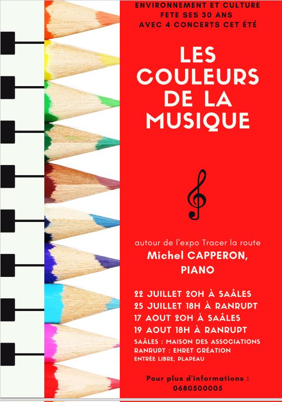 Concert de piano les Couleurs de la musique @ Maison des associations | Saales | Grand Est | France